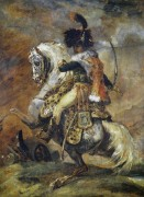 Офицер имперской гвардии верхом на коне - Жерико, Теодор Жан Луи Андре
