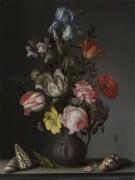 Цветы в вазе с раковинами и насекомыми - Аст, Бальтазар ван дер