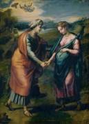 Встреча Марии и Елизаветы - Рафаэль, Санти