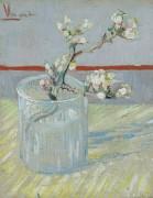 Цветущая ветка миндаля в стакане (Blossoming Almond Branch in a Glass), 1888 - Гог, Винсент ван