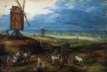 Пейзаж с ветряными мельницами - Брейгель, Ян (младший)