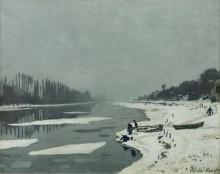 Ледоход на Сене в Буживале - Моне, Клод