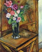 Ваза с цветами на столе - Валадон, Сюзанна