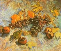 Натюрморт с яблоками, грушами, лимонами и виноградом - Гог, Винсент ван