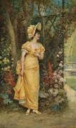 Женщина в саду - Зацка, Ханс