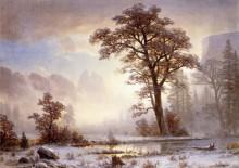 Йосемитская долина в снегу - Бирштадт, Альберт