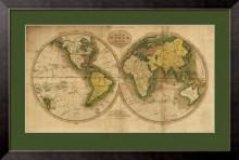 Карта мира. 1795
