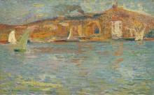 Вид на гавань Марселя - Мартен, Анри Жан Гийом