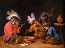 Обезьяны пьют и курят -  Тенирс, Давид