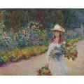 Девушка в саду в Живерни - Моне, Клод