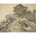 Скала Монтмайор с соснами (The Rock of Montmajour with Pine Trees), 1888 - Гог, Винсент ван