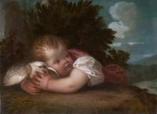 Мальчик с птицей - Тициан Вечеллио