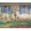 Цветник под окнами на Лабасти-дю-Вер, 1941 - Мартен, Анри Жан Гийом
