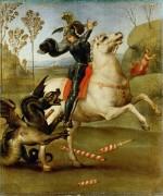 Святой Георгий и дракон - Рафаэль, Санти