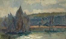 Рыбацкие лодки в Онфлёре - Лебург, Альберт