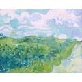 Зеленые пшеничные поля (Green Wheat Fields, Auvers), 1890 - Гог, Винсент ван