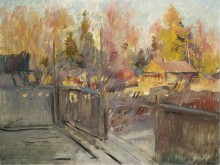 Весна в деревне, 1920 - Коровин, Константин Алексеевич
