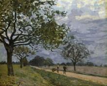 Дорога из Версаля в Лувесьен - Сислей, Альфред