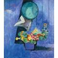 Цветы в синем горшке - Матисс, Анри