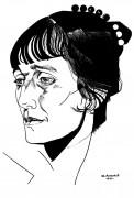 Портрет Анны Ахматовой - Анненков, Юрий Павлович