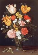 Букет цветов с кольцом и бриллиантами - Брейгель, Ян (Старший)