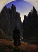 Пилигрим в горном ущелье - Карус, Карл Густав