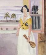 Женщина с мандолиной - Матисс, Анри