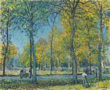 Парк в Сен-Клу - Сислей, Альфред