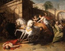 Туллия, проезжающая на колеснице по телу своего отца - Жерико, Теодор Жан Луи Андре