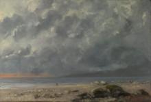 Пляж - Курбе, Гюстав