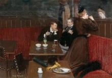 Компания в кафе - Беро, Жан