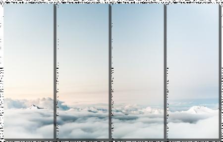 За облаками