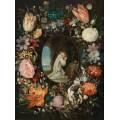 Святой Бернард Клервосский в обрамлении цветочной гирлянды - Брейгель, Ян (младший)
