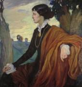 Портрет Анны Ахматовой. 1914 - Делла-Вос Кардовская, Ольга