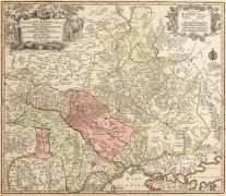 Карта Украины. Amplissima Ucraniae Regio Palatinatus. 1742
