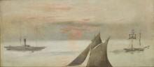 Лодки при закате дня - Мане, Эдуард