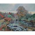 Пейзаж Крез, вид на мост Чарроуд, 1901 - Гийомен, Арманд