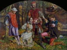 Валентин спасает Сильвию от Протея (по пьесе Шекспира Два веронца) - Хант, Уильям Холман