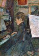 Мадам Дио за пианино - Тулуз-Лотрек, Анри де