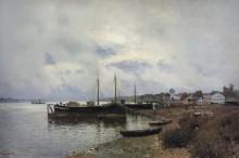 После дождя. Плёс. 1889 - Левитан, Исаак Ильич