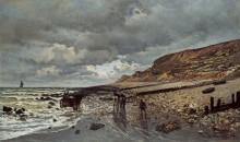 Пуэнт-де-ла Хев во время отлива, 1865 - Моне, Клод