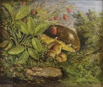 Поляна с белыми грибами и ежевикой - Зацка, Ханс