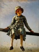 Стрекоза (Портрет дочери художника) - Репин, Илья Ефимович