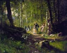 Прогулка в лесу, 1869 - Шишкин, Иван Иванович
