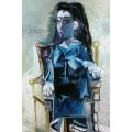 Жаклин сидит в кресле, 1964 - Пикассо, Пабло
