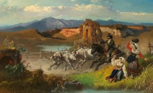Пастух со стадом в Кампанье - Ромако, Антон