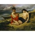 Семья из племени Натчез - Делакруа, Эжен