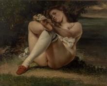 Женщина с белыми чулками - Курбе, Гюстав