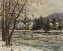Лед на пруду в Аврэ, 1897 - Мофра, Максим