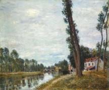 Речной пейзаж - Сислей, Альфред